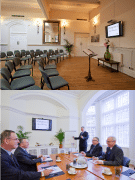 Services available at Langan's Tea Rooms include conference facilities
