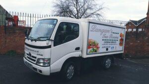 Langan's delivery van