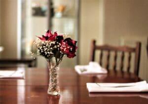 Dining inside Langan's Tea Rooms, Burton-on-Trent